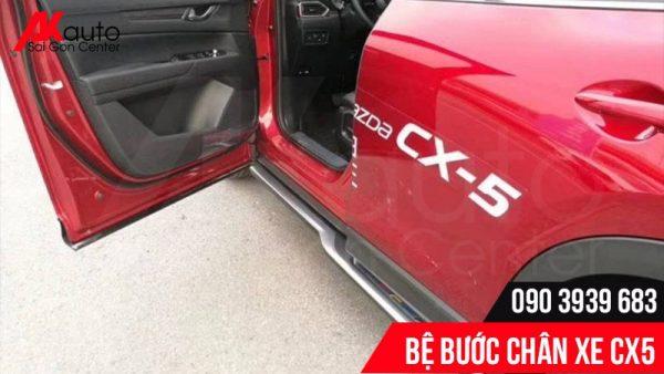 lắp bệ bước chân Mazda CX5 mẫu Sport