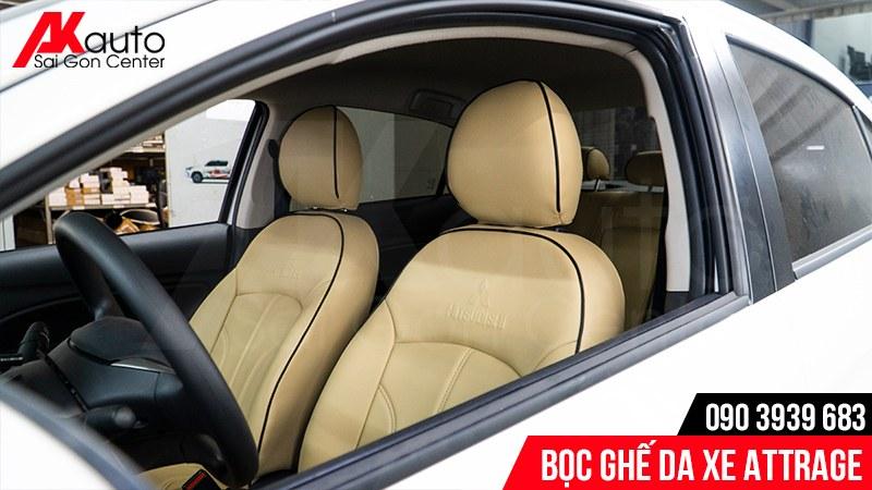 may áo ghế da xe ô tô attrage