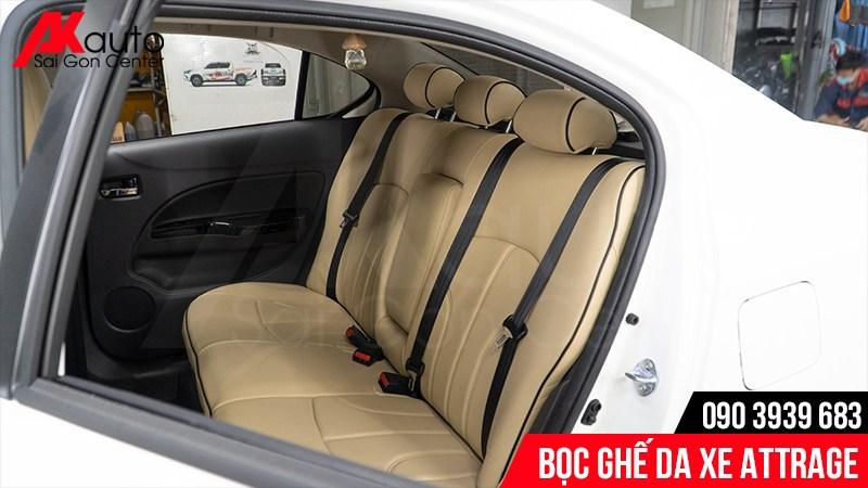 Bọc nệm ghế da Mitsubishi Attrage mang lại cảm giác mềm mại bọc ghế da ô tô attrage