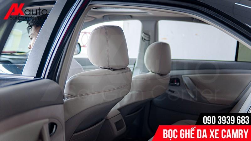 bọc ghế da xe hơi camry hcm