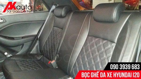 bọc ghế da hyundai i20 đen