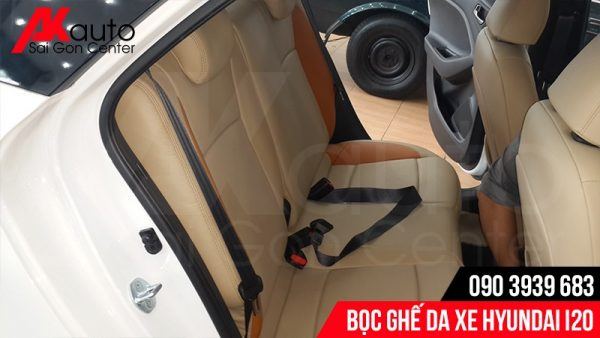phối màu bọc ghế da Hyundai i20