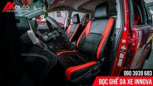 có nên bọc ghế da xe innova