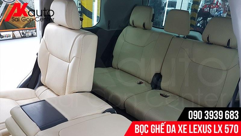 tư vấn bọc ghế da ô tô lx570