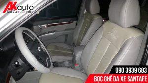 chất liệu da bọc ghế xe santafe