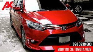body kit vios sơn đỏ