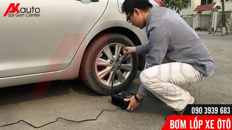 sử dụng bơm lốp ô tô điện hcm