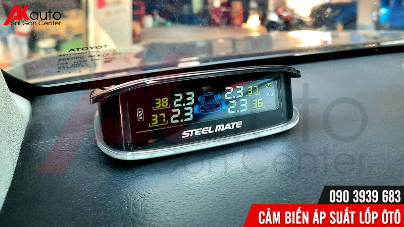 thông số áp suất lốp hiển thị màn hình