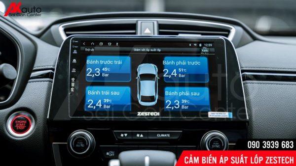 cảm biến áp suất lốp hiển thị màn hình Zestech