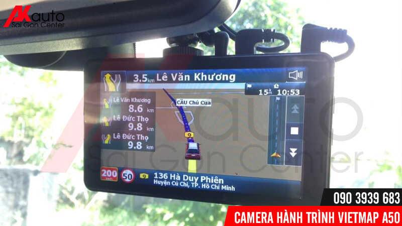 dẫn đường Vietmap s1 trên camera a50