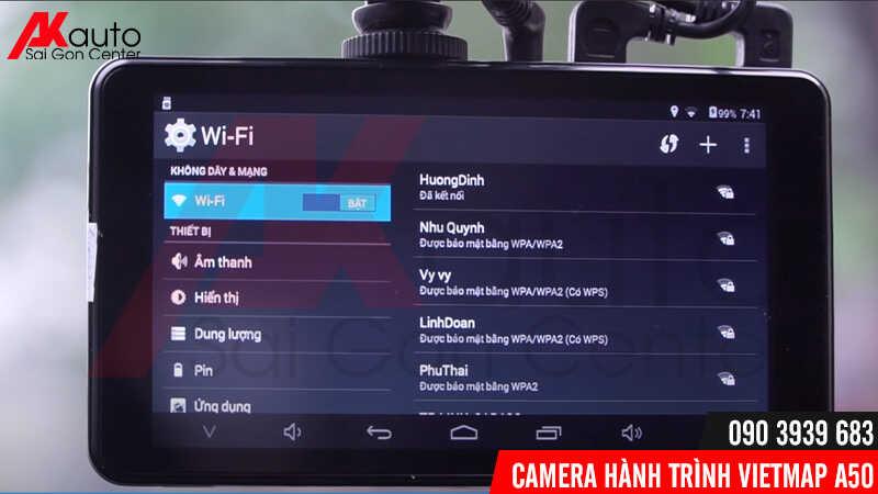 Viet,ap a50 có khả năng kết nối wifi