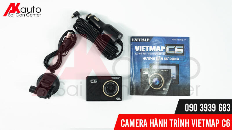 bộ sản phẩm camera c6 vietmap