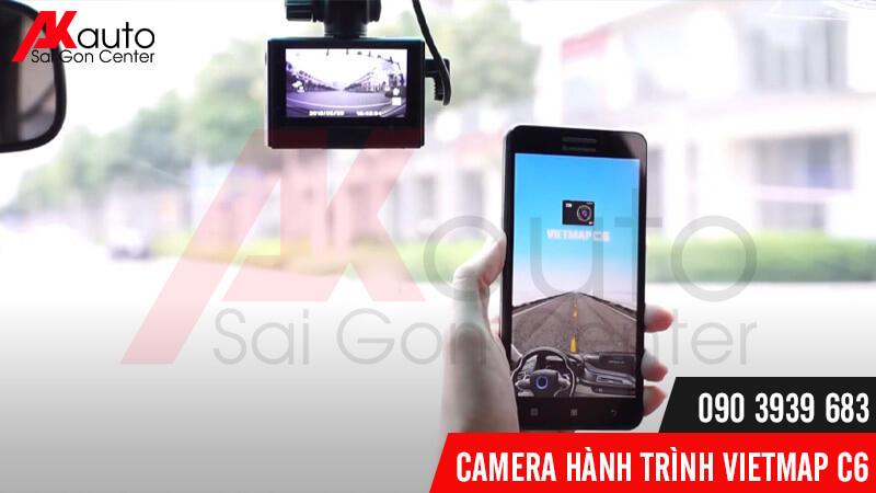 kết nối điện thoại với camera vietmap c6