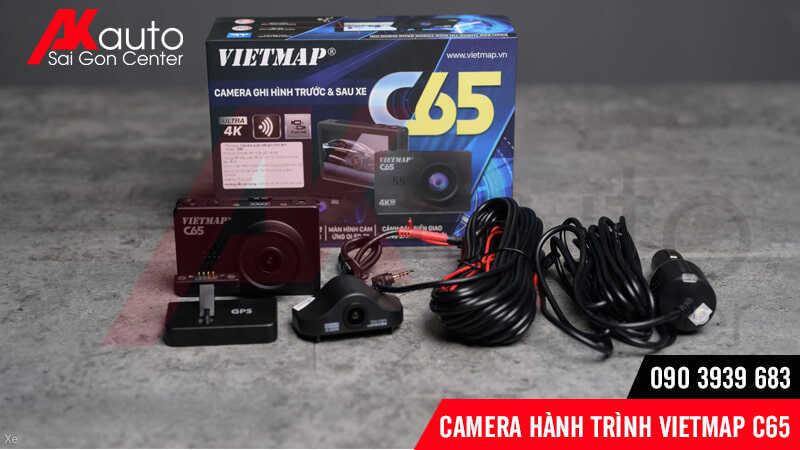 bộ sản phẩm camera hành trình ô tô c65