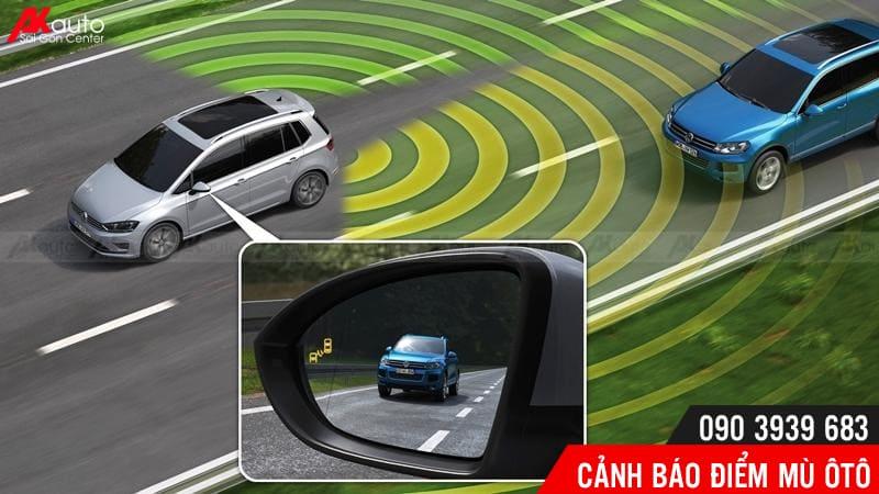 cảnh báo điểm mù xóa điểm mù ô tô