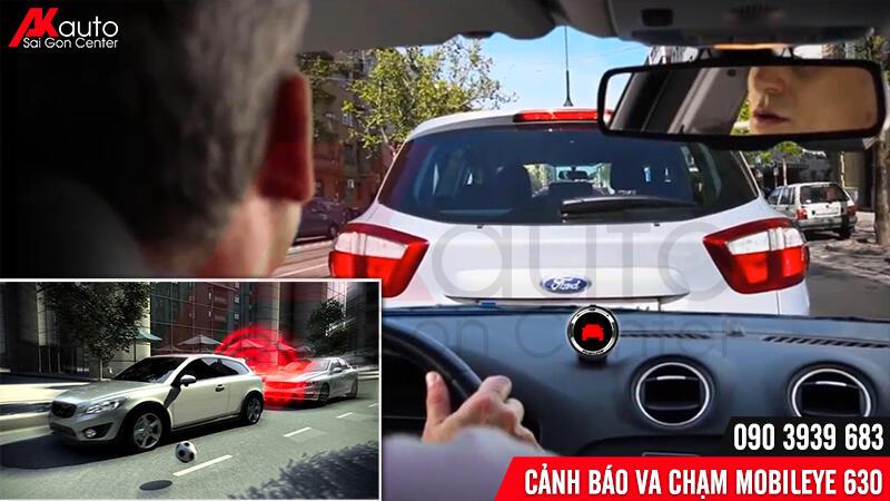 cảnh báo đâm va với xe phía trước