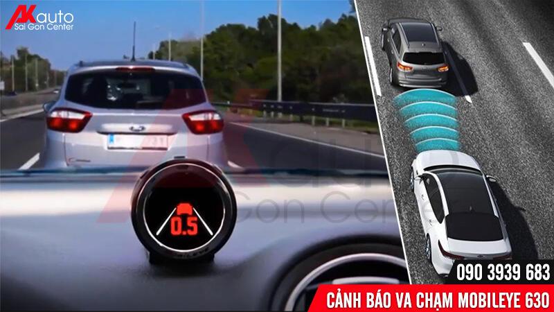 mobileye tính toán thời gian va chạm với xe phía trước