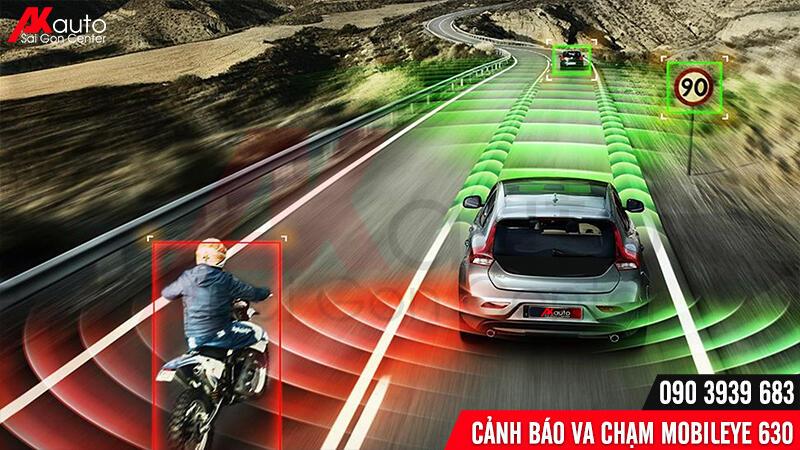 cảnh báo khoảng cách với xe phía sau