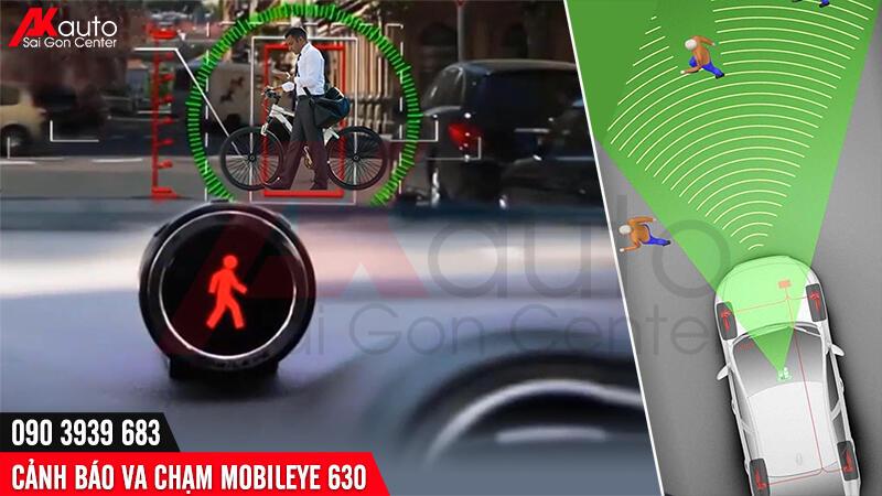 cảnh báo va chạm với người đi bộ xe đạp