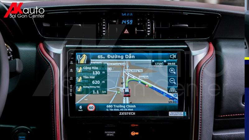 màn hình android zestech dẫn đường