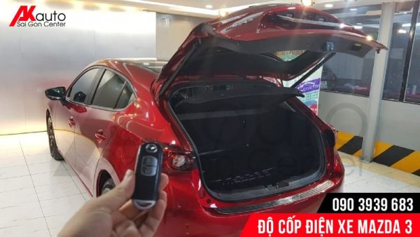 điều khiển độ cốp điện xe mazda 3 tự động