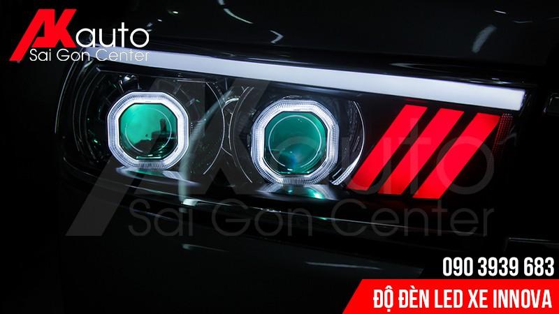 akauto chuyên độ đèn led xe innova