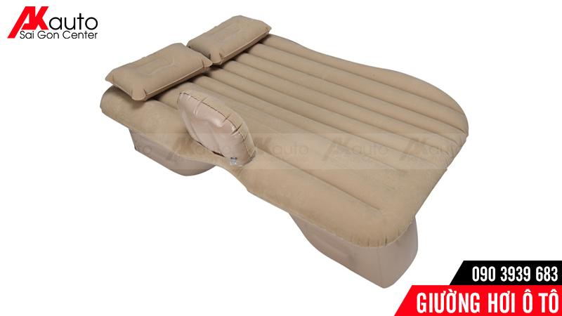 giường hơi ô tô đế liền màu da