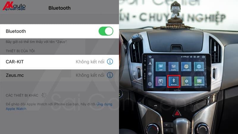 kết nối bluetooth với xe ô tô