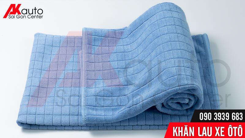 khăn lau microfiber kẻ vuông