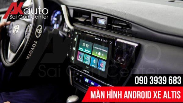 Lắp đặt màn hình ô tô Altis chính hãng hcm