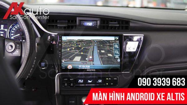 màn hình ô tô altis điều hướng dẫn đường