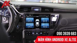 màn hình altis hiển thị thông tin áp suất lốp