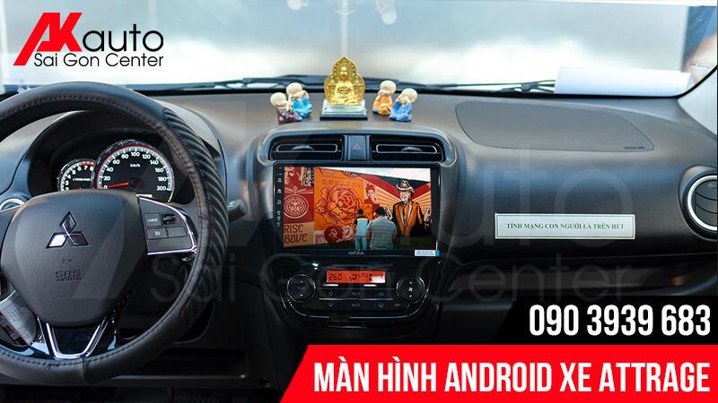 màn hình ô tô attrage giải trí