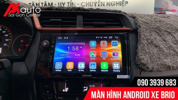 màn hình android xe Brio hcm chính hãng
