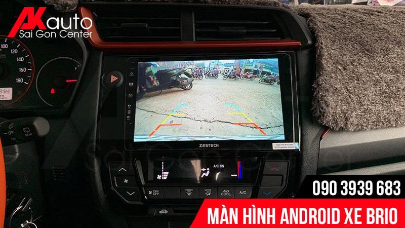 màn hình android Biro hiển thị camera lùi