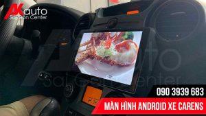 lắp đặt màn hình ô tô carens tại nhà hcm