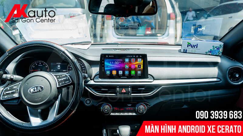 Địa chỉ lắp màn hình android cerato chính hãng hcm