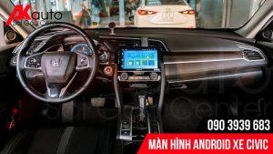 màn hình android honda civic chính hãng