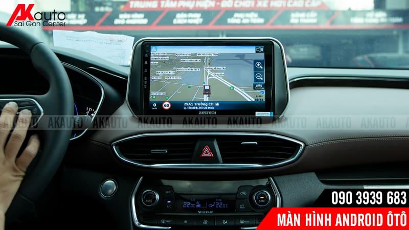bản đồ dẫn đường trên màn hình nâng cấp