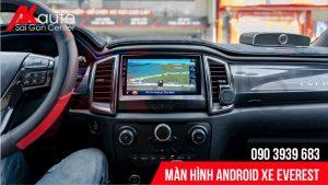 bản đồ dẫn đường trên màn hình android everest