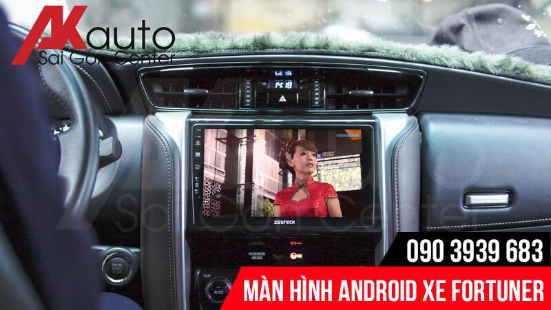 lắp màn hình android fortuner chính hãng hcm