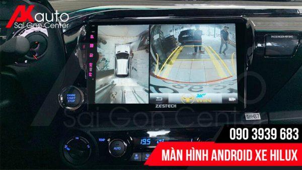 màn hình hilux tích hợp camera 360