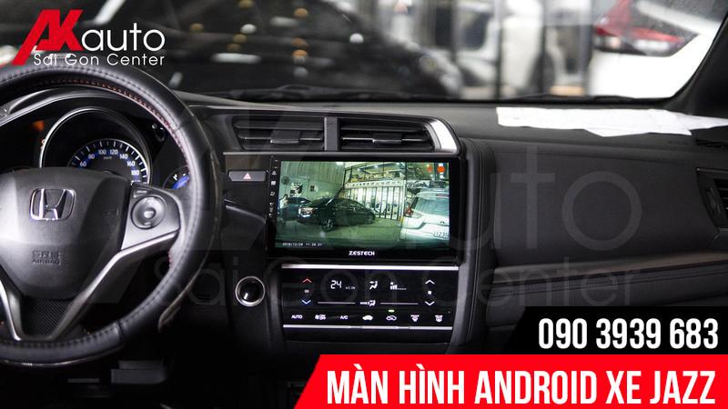màn hình android jazz hiển thị hình ảnh camera