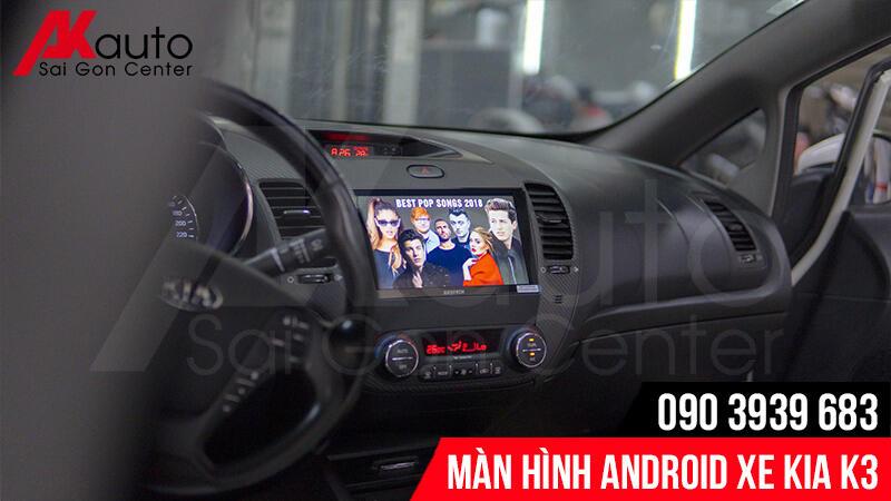 màn hình android kia k3 nâng cấp hcm