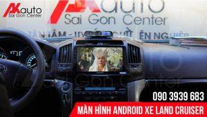 giải trí trực tuyến trên màn hình android land cruiser
