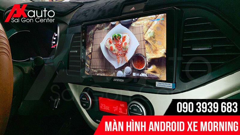 địa chỉ lắp màn hình android kia morning chính hãng hcm