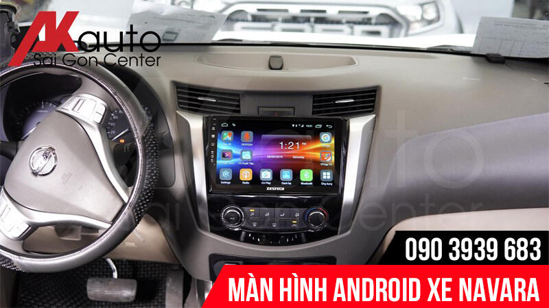 màn hình android ô tô navara