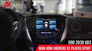 màn hình android pajero sport hiển thị áp suất lốp