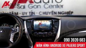 Hình ảnh camera hiển thị màn hình pajero sport sắc nét