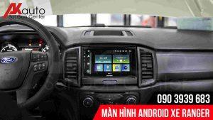 lắp màn hình android ranger chính hãng hcm